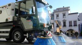 Lavaggio di piazza Ferretto a Mestre