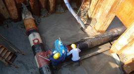 Lavori sublagunari dentro casseri
