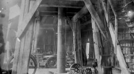Colonna piezometrica provvisoria con castello di legno alto 31 mt (1884)